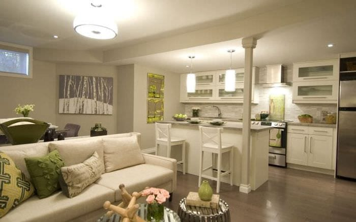 Современный дизайн многофункциональной комнаты 3 в 1