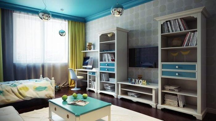 Современный дизайн обоев для детской комнаты с ярким светом