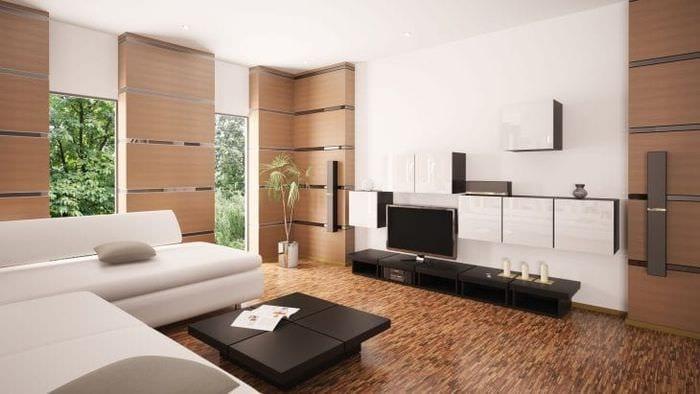 Выдержанный декор гостиной в стиле минимализм