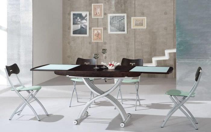 Современный стол – трансформер для модного декора гостиной