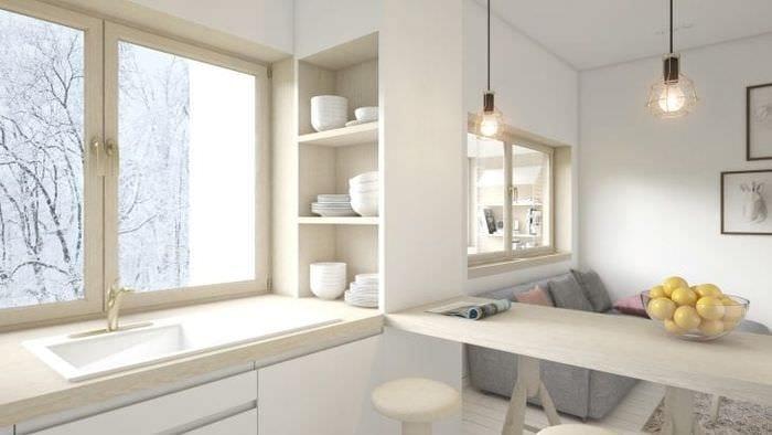 Стиль минимализма для гостиной в белом цвете