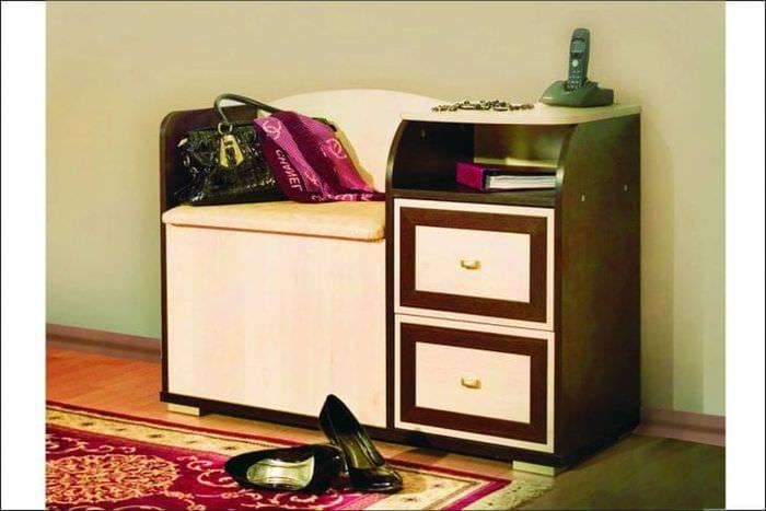 Тумба для обуви с сиденьем в прихожую: фото, видео, советы, рекомендации