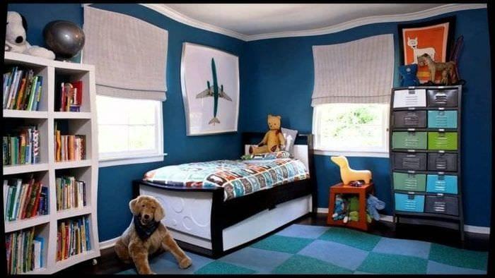 Идеи темных обоев для детской комнаты для девочки