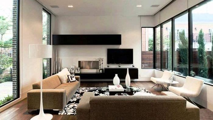Функциональное украшение гостиной в современном стиле