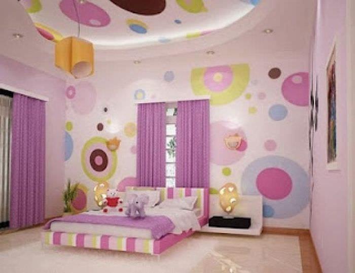 Оригинальное оформление обоями детской комнаты современного мальчика