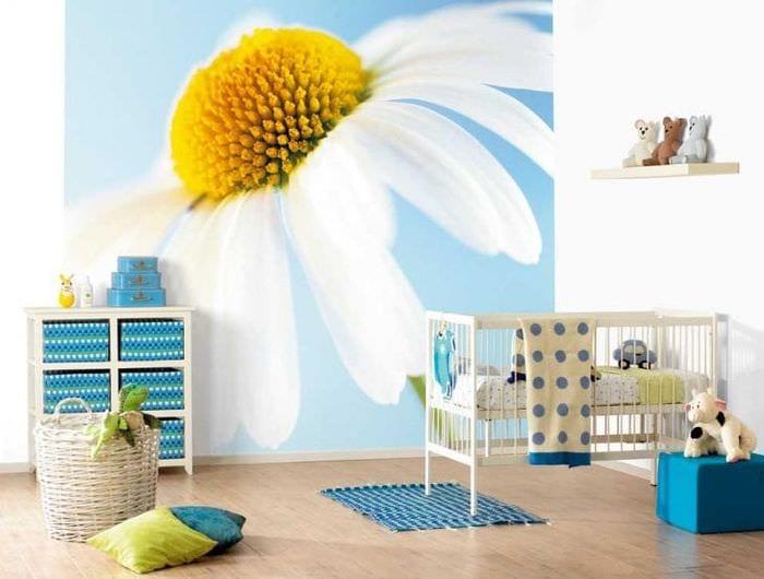 Большая детская комната с яркими насыщенными фотообоями