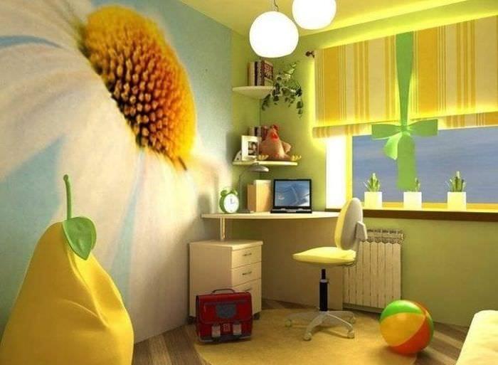 Выбираем правильные яркие фотообои для маленькой детской комнаты