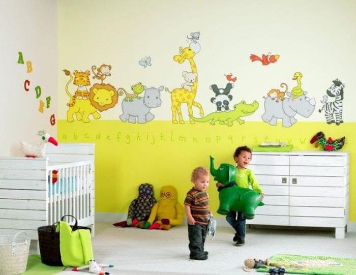 Выбираем веселые обои с познавательными рисунками для детской комнаты
