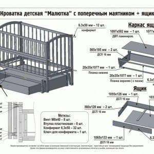 Изготовление кроватки с ящиками