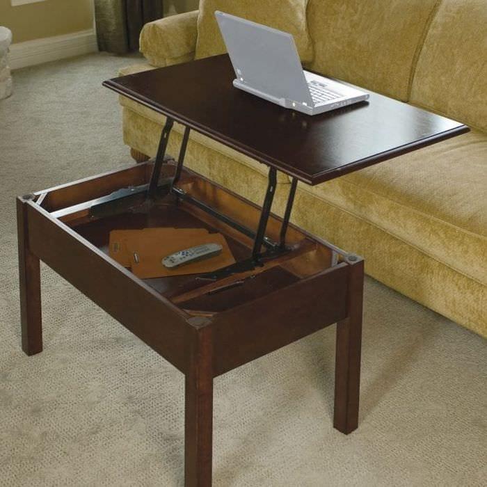 Как сделать из журнального столика письменный стол