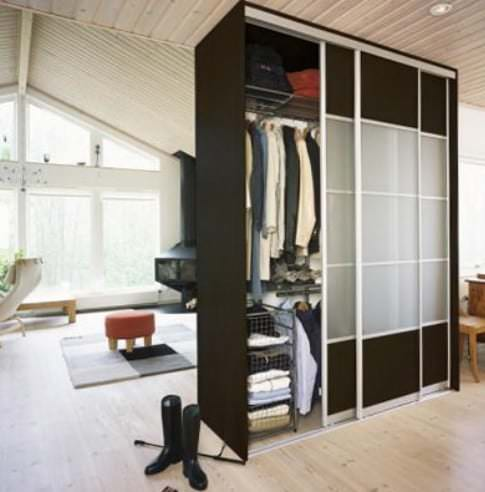 Зонирование мебелью