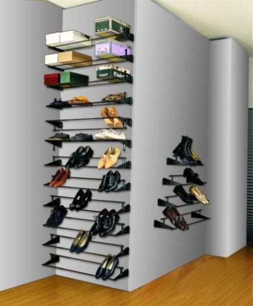 вертикальная металлическая этажерка
