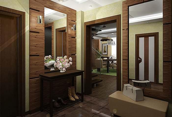 Выбираем шпалеры для прихожей исходя из стиля жилья