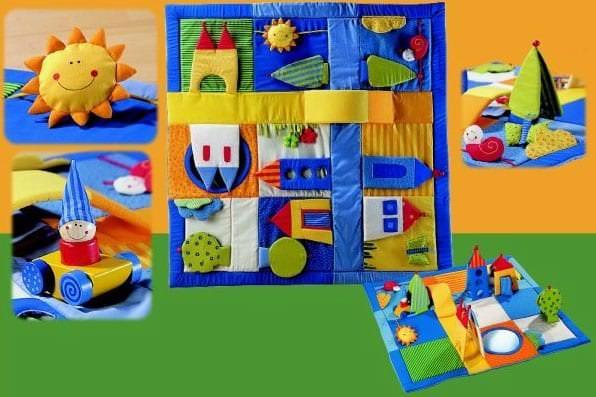 Интересные идеи развивающего коврика с отрывными игрушками