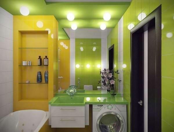 Цветовая гамма маленькой ванной