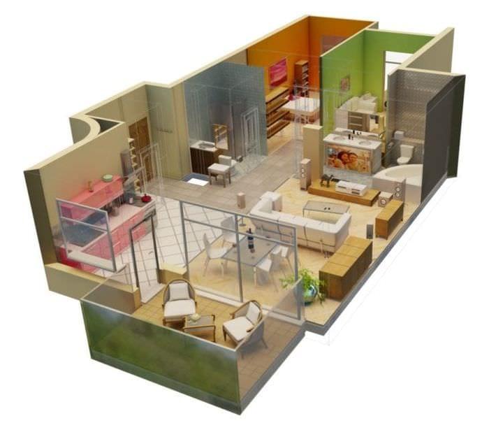 3d дизайн гостиной