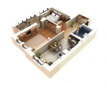 3d проект дома фото
