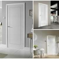 светлые двери в дизайне с оттенком розового картинка