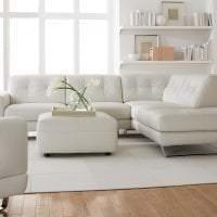 светлый диван в дизайне гостиной фото