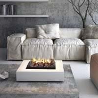 белый диван в стиле комнаты фото