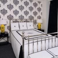 черные обои в дизайне комнаты в стиле лофт фото