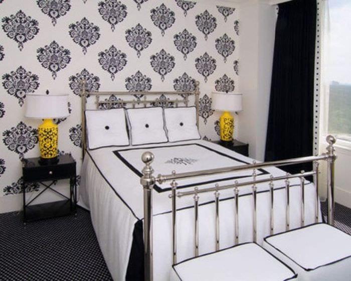 Черные обои с цветами для комнаты фото