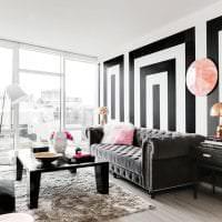 черные обои в интерьере коридора в стиле электика картинка