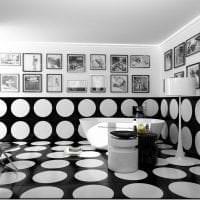 черные обои в интерьере кухни в стиле электика фото