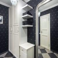 черные обои в интерьере комнаты в стиле авангардизм фото