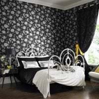 черные обои в дизайне коридора в стиле минимализм фото