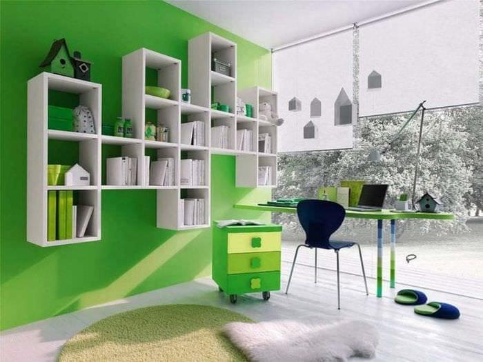 цветная комната комната интерьер