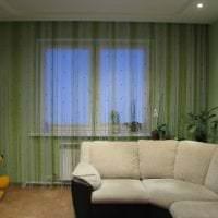 светлые шторы нити в интерьере спальни картинка