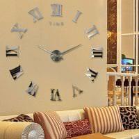пластиковые часы в кухне в стиле классика фото