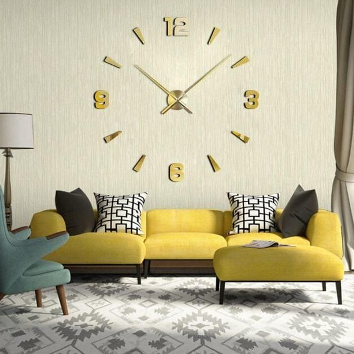 пластиковые часы в спальне в стиле кантри