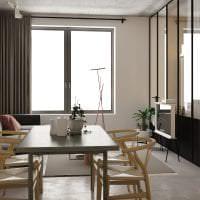 стиль потолка с бетоном в комнате картинка