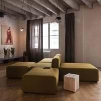 дизайн потолка с бетоном в квартире картинка