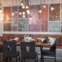 интерьер гостиной в стиле стимпанк с эффектом старины фото