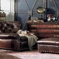 интерьер спальни в стиле стимпанк с эффектом старины картинка
