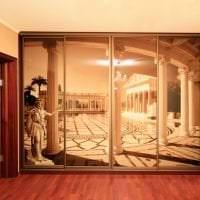 стиль углового шкафа в коридоре из мдф картинка