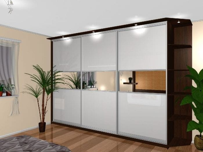 дизайн углового шкафа в коридоре из дерева
