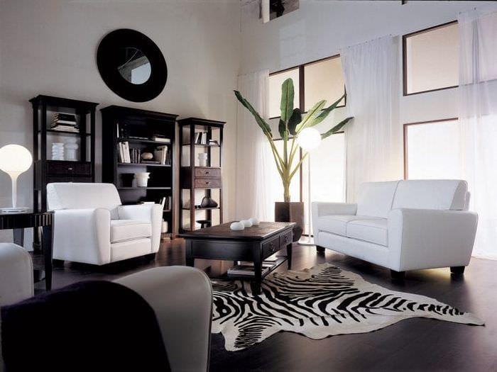 изысканный стиль комнаты в черном цвете