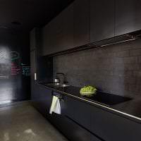 красивый дизайн квартиры в черном цвете картинка