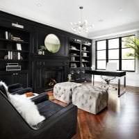 изысканный стиль кухни в черном цвете картинка