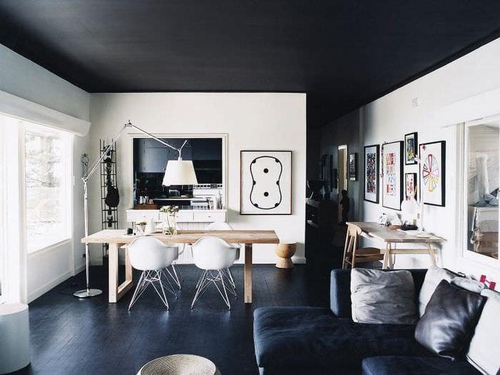 красивый декор спальни в черном цвете