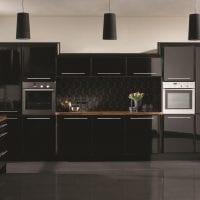 необычный стиль кухни в черном цвете картинка