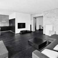 изысканный декор комнаты в черном цвете картинка