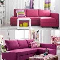 светлый угловой диван в стиле гостиной фото