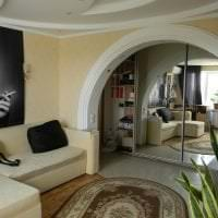 светлая арка в стиле спальни фото