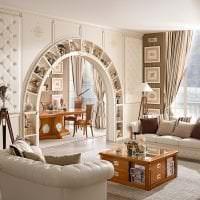светлая арка в дизайне коридора картинка
