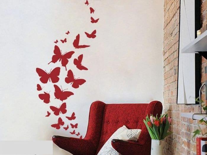 красивые бабочки в стиле спальни
